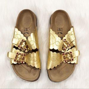 Betula Birkenstock gold jewels sandals 7